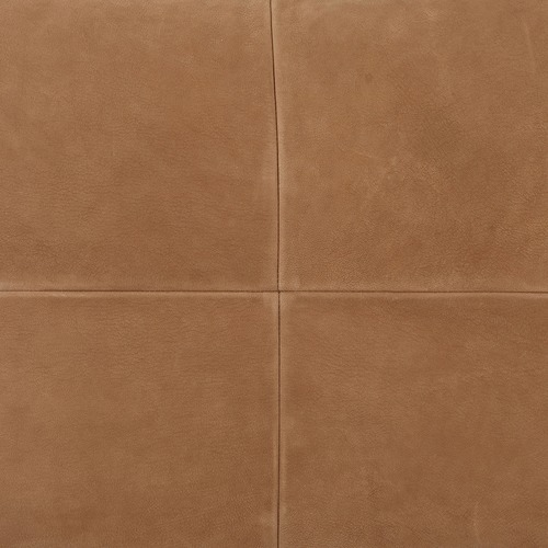 NSW Leather Tan Nappa Rectangular Patchwork Leather Cushion