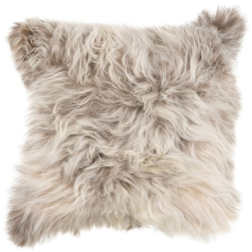 NSW Leather Natural Wild Tibetan Sheepskin Cushion