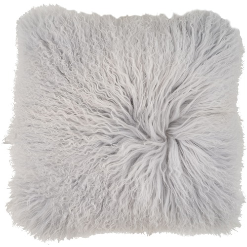 NSW Leather Mongolian Sheepskin Cushion