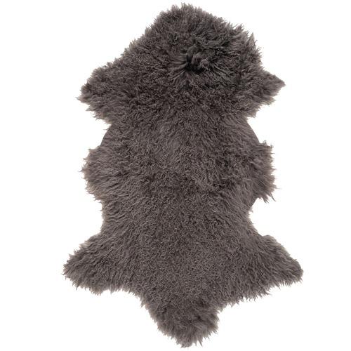 NSW Leather Charcoal Mongolian Sheepskin Rug