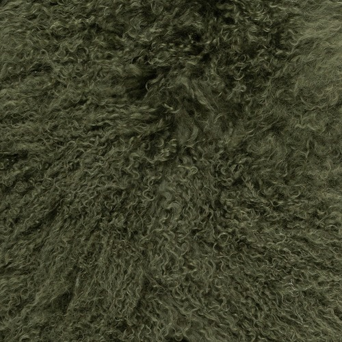 NSW Leather Olive Mongolian Sheepskin Rug