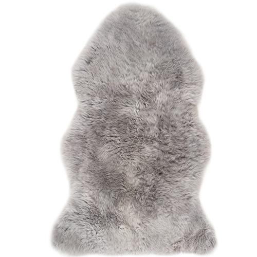 Silver & Grey Merino Sheepskin Rug