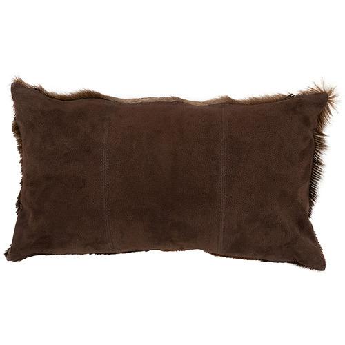 NSW Leather Brown Blesbok Hide Lumbar Cushion