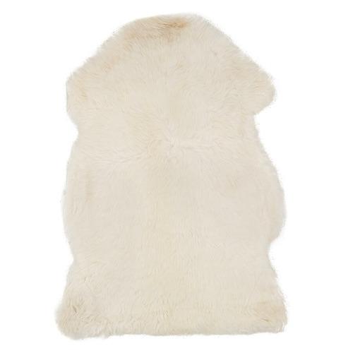 White New Zealand Sheepskin Rug