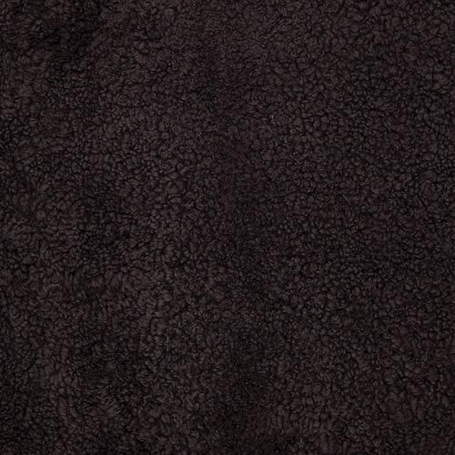 Graphite Shearling Square Sheepskin Cushion