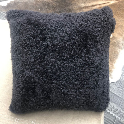 Graphite Shearling Sheepskin Cushion