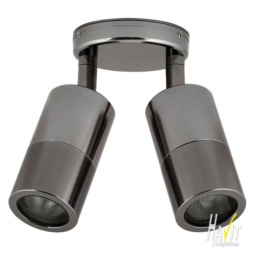 Havit Lighting 240V Tivah Double Adjustable Wall/Ceiling Pillar Light Long Body Titanium Anodised Aluminium