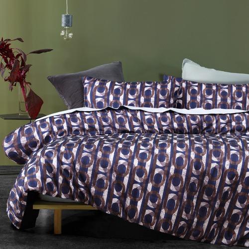 Blue Brunswick Printed Quilt Cover Set