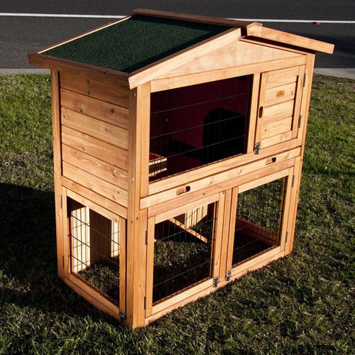 2 Storey Rabbit Guinea Pig Cage Hutch Amp Wire Door Temple Amp Webster