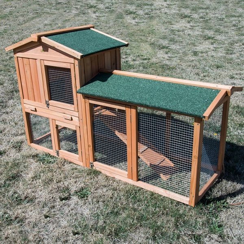 double storey rabbit guinea pig cage hutch with extension