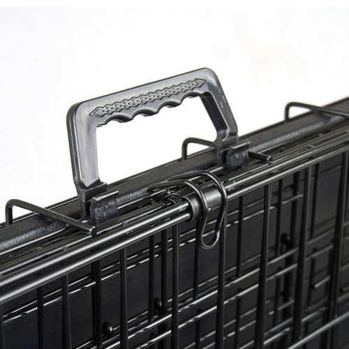 Home Ready Collapsible 2 Door Metal Wire Dog Crate