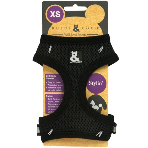 b684a29ae Black Soft Mesh Dog Harness