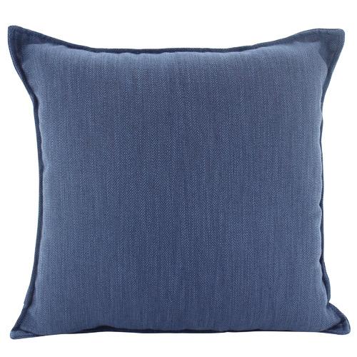 45cm Navy Basic Square Linen Cushion