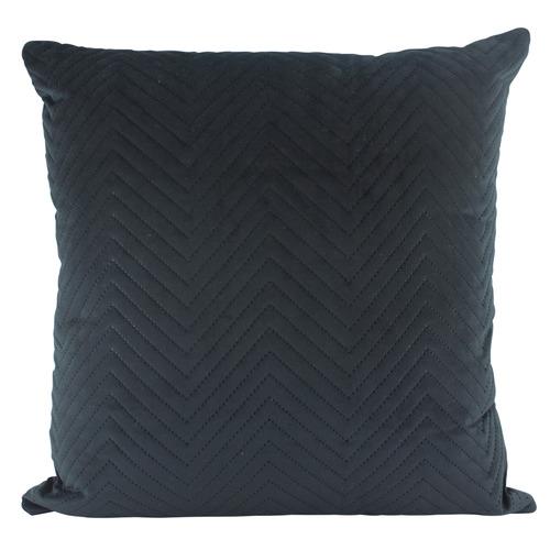 Quilted Square Velvet Cushion