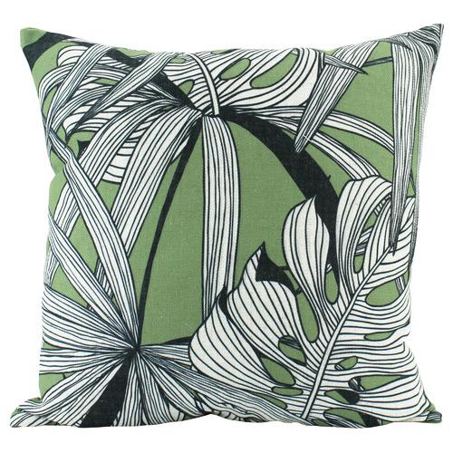 Nicholas Agency & Co Printed Fern Square Linen Cushion