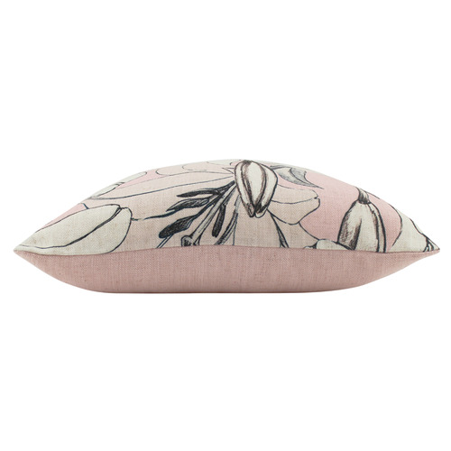 Nicholas Agency & Co Pink Small Lilies Square Cushion