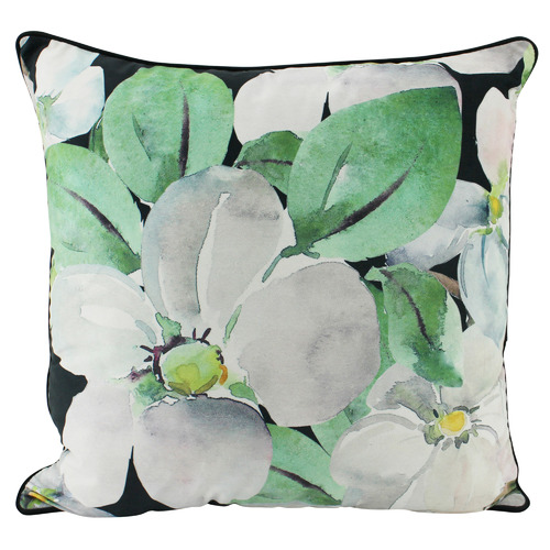 Nicholas Agency & Co Black Magnolia Square Cushion