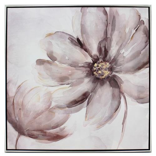 Nicholas Agency & Co Fleurs In The Wind Framed Canvas Wall Art