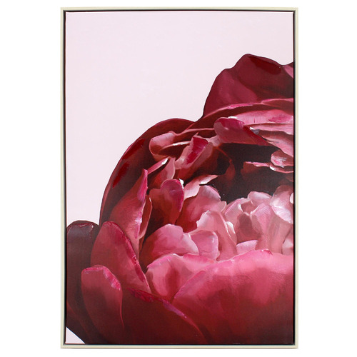 Nicholas Agency & Co Bottom Red Peony Framed Canvas Wall Art