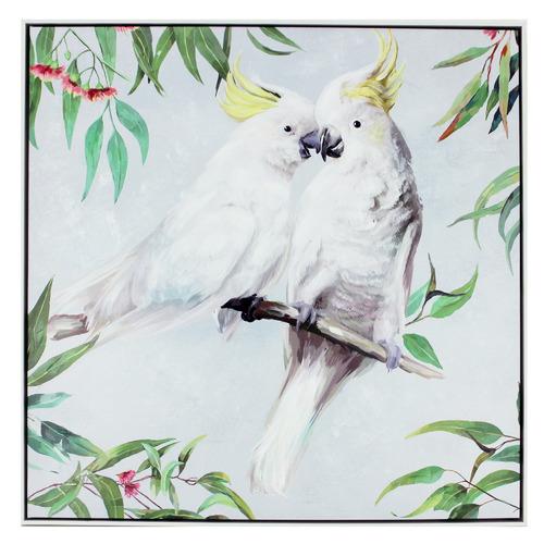 Nicholas Agency & Co Kissing Cockatoo Framed Canvas Wall Art