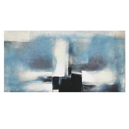 Nicholas Agency & Co Blue Abstract Canvas Wall Art