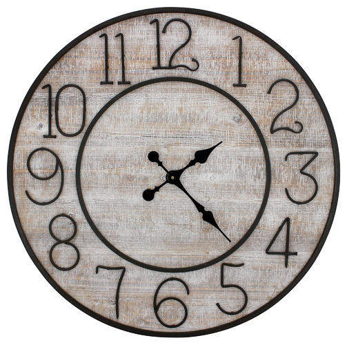 Nicholas Agency & Co 80cm Colt Wood & Metal Wall Clock