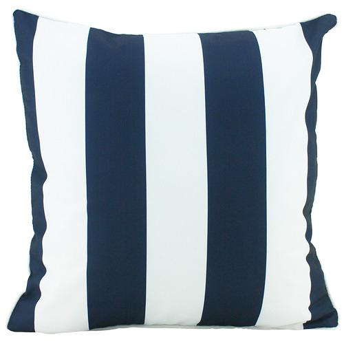 Navy Striped Deniece Outdoor Cushion