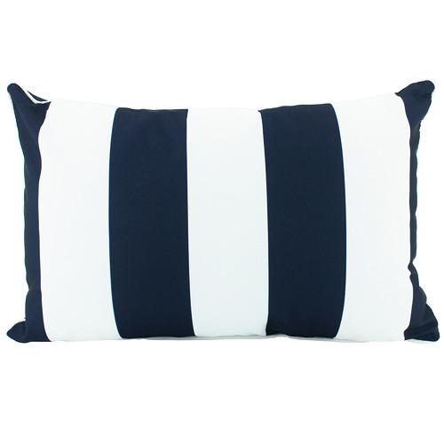 Navy Striped Deniece Lumbar Cushion