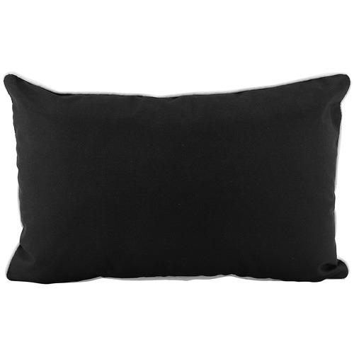 Black Nicolai Outdoor Lumbar Cushion