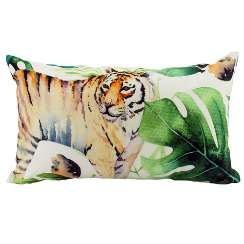 Nicholas Agency & Co Jungle Tiger Outdoor Lumbar Cushion