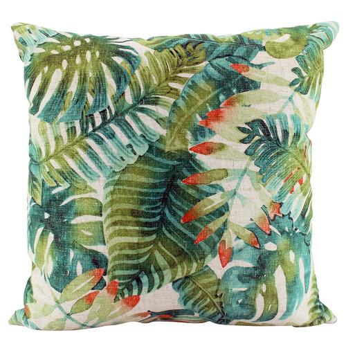 Nicholas Agency & Co Tropical Virid Linen-Blend Cushion