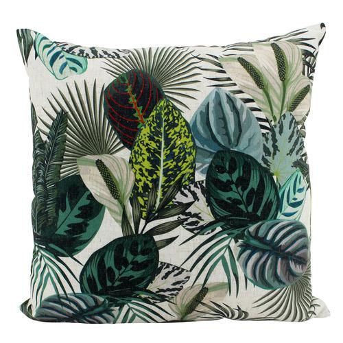 Nicholas Agency & Co Vivid Jungle Linen-Blend Cushion