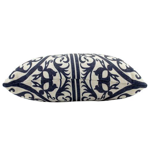 Hamptons Geometric Rectangular Linen-Blend Cushion