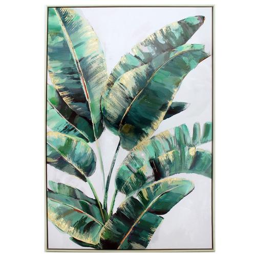 Nicholas Agency & Co Strelitzia Plant I Framed Canvas Wall Art