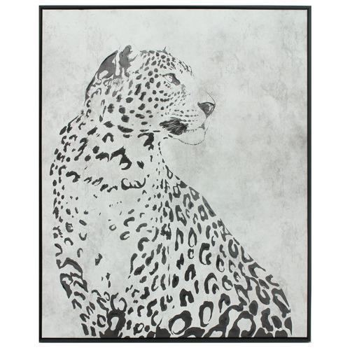 Nicholas Agency & Co Snow Leopard Framed Canvas Wall Art