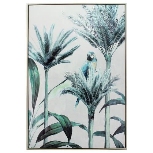 Nicholas Agency & Co Macaw Palm Framed Canvas Wall Art
