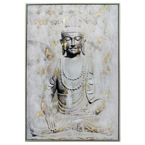 Golden Budda Framed Canvas Wall Art