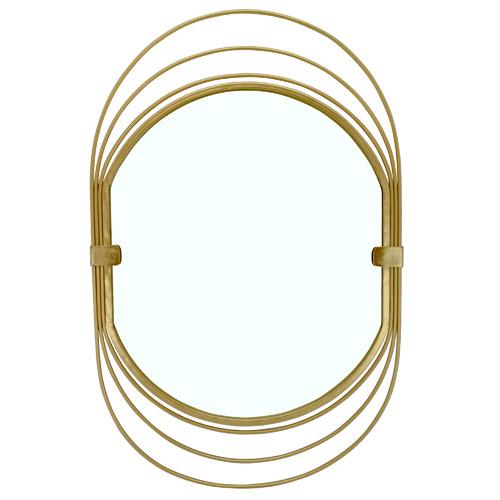 Nicholas Agency & Co Gold Daisy Oval Metal Wall Mirror