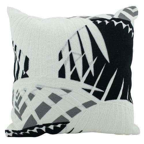 Nicholas Agency & Co Black & Grey Hani Embroidered Cushion