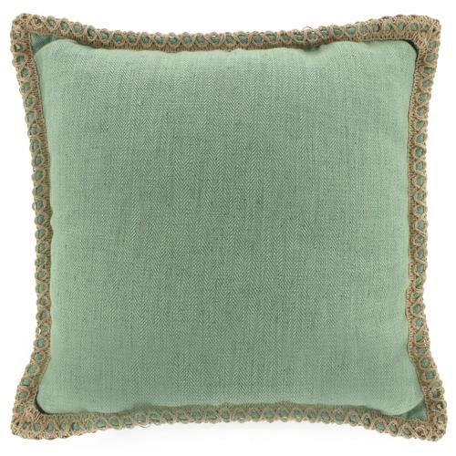 Nicholas Agency & Co Trimmed Border Square Linen-Blend Cushion