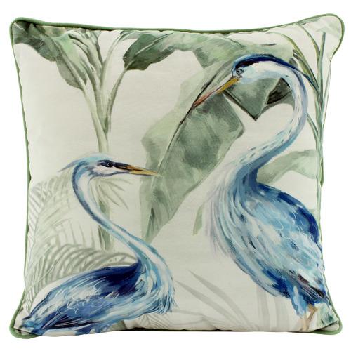Cranes Velvet Cushion