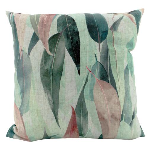 Eucalyptus Linen-Blend Cushion