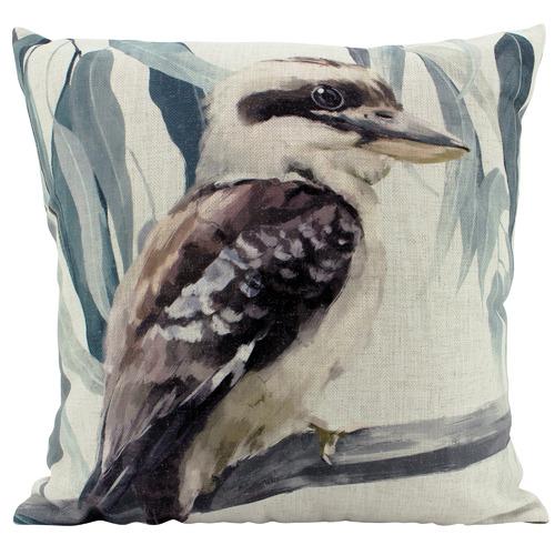 Nicholas Agency & Co Aussie Kookaburra Linen-Blend Cushion