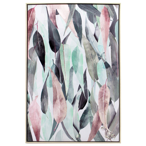 Nicholas Agency & Co Gum Leaf Collage Framed Canvas Wall Art