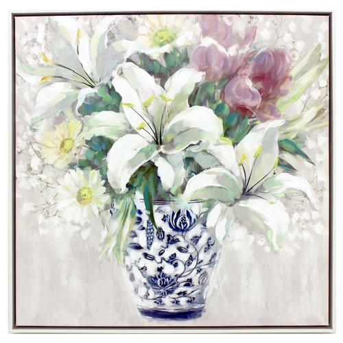 Nicholas Agency & Co Mame Bouquet Framed Canvas Wall Art