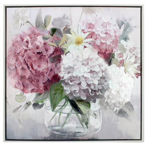 Nicholas Agency & Co Peony Posy Framed Canvas Wall Art