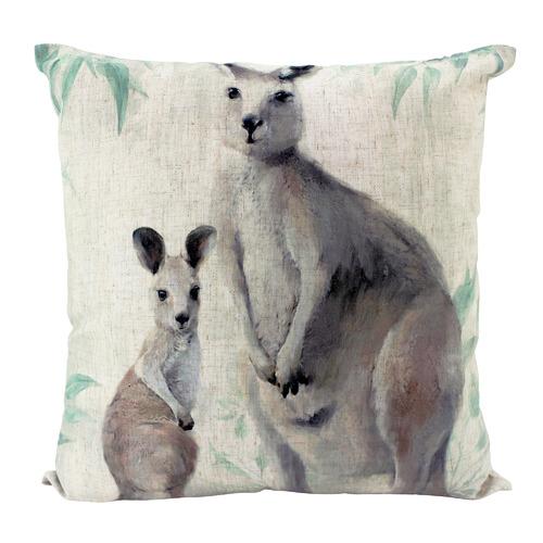 Kangaroos Linen Cushion