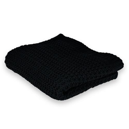Ardor Ardor Knitted Black Throw