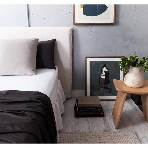 Ardor Black & Charcoal Plain Dyed Xtra Quilt Cover Set