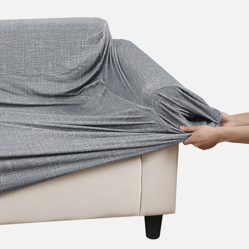Grey Stretch Sofa Cover